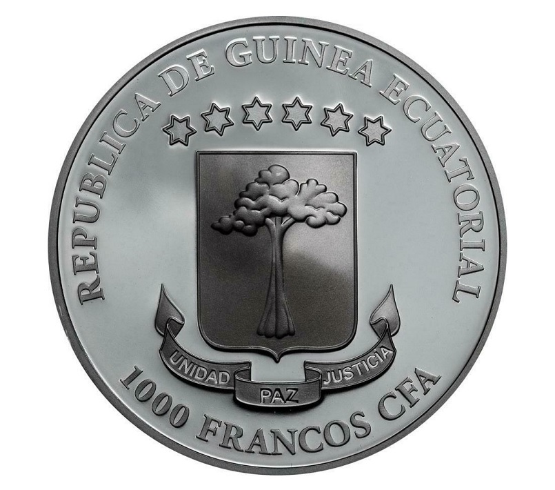 (W087.1000.CFA.2019.1.oz.Ag.1) 1000 Francos Equatorial Guinea 2019 1 oz Ag - Blood moon Obverse (zoom)