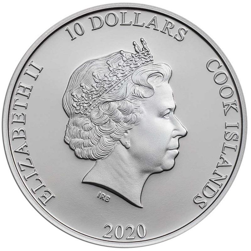 (W099.10.D.2020.2.oz.Ag.1) 10 Dollars Cook Islands 2020 2 oz Proof silver - Propeller Obverse (zoom)
