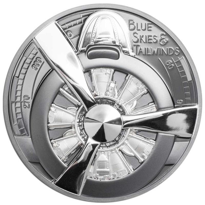 (W099.10.D.2020.2.oz.Ag.1) 10 Dollars Cook Islands 2020 2 oz Proof silver - Propeller Reverse (zoom)