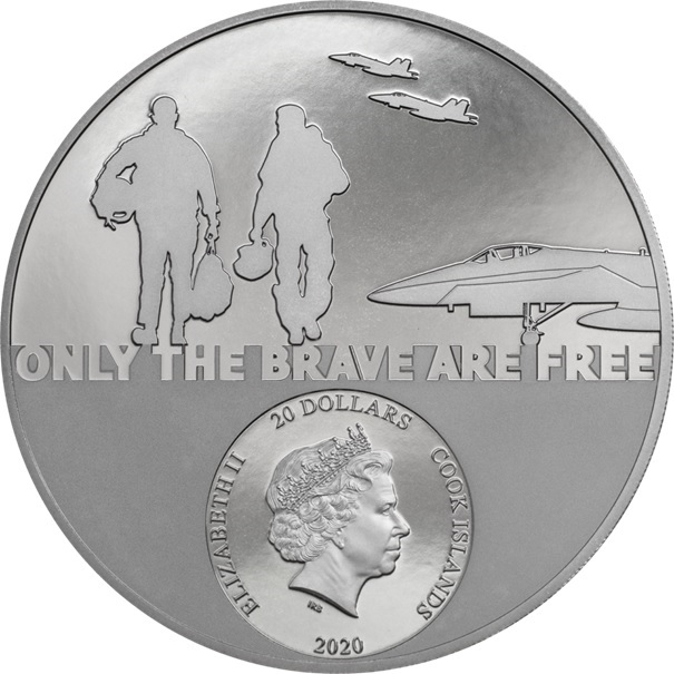 (W099.20.D.2020.29361) 20 Dollars Fighter pilot 2020 - Proof silver Obverse (zoom)