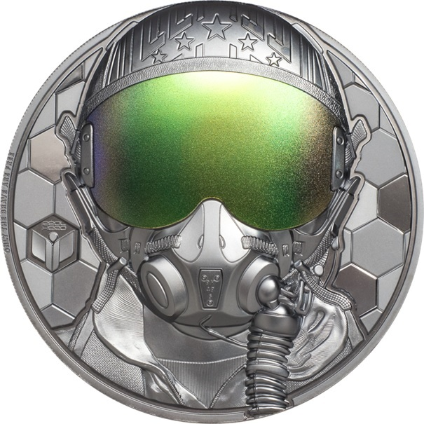 (W099.20.D.2020.29361) 20 Dollars Fighter pilot 2020 - Proof silver Reverse (zoom)