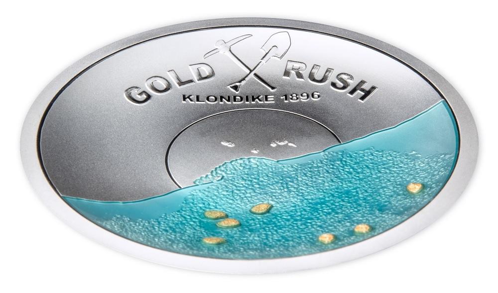 (W106.5.D.2021.50.g.Ag.1) 5 Dollars Salomon Islands 2021 50 g Proof Ag - Gold Rush (view on reverse) (zoom)