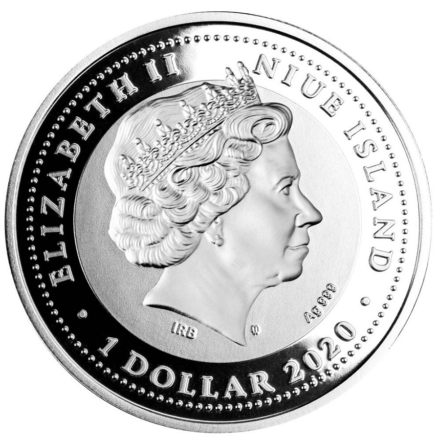 (W160.1.D.2020.1) 1 Dollar Victory 2020 - Proof silver Obverse (zoom)