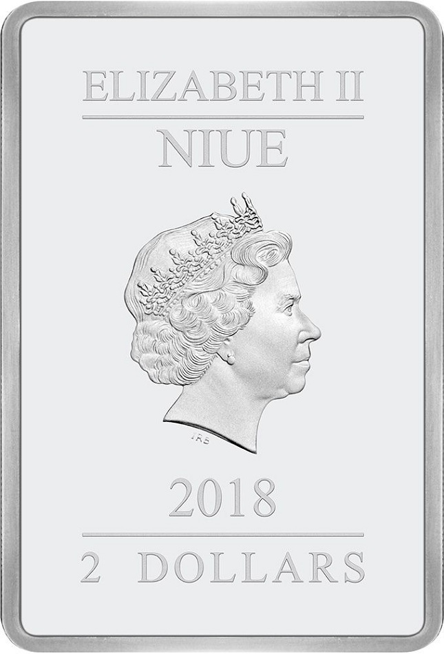 (W160.200.2018.30-00728) 2 Dollars Niue 2018 1 oz Proof Ag - Attack of the Clones Obverse (zoom)