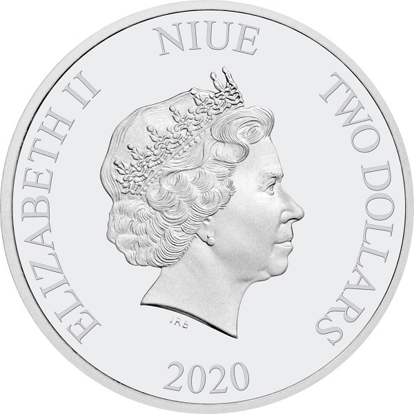 (W160.200.2020.30-00969) 2 Dollars Niue 2020 1 oz Proof Ag - Time to be the best Obverse (zoom)