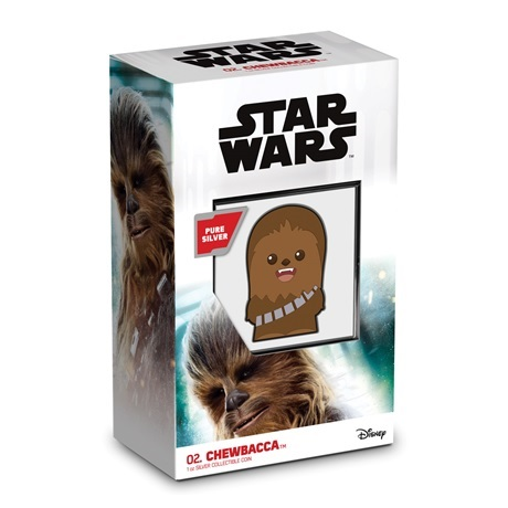 (W160.200.2020.30-00993) 2 Dollars Niue 2020 1 once Ag BE - Chibi Chewbacca (packaging)