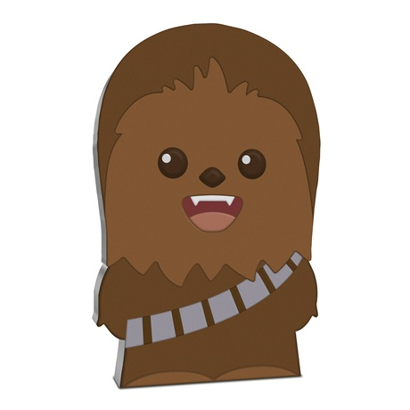 (W160.200.2020.30-00993) 2 Dollars Niue 2020 1 once argent BE - Chibi Chewbacca Revers