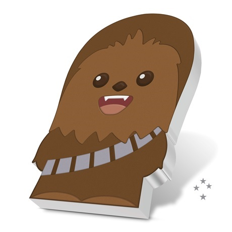 (W160.200.2020.30-00993) 2 Dollars Niue 2020 1 once argent BE - Chibi Chewbacca (tranche)