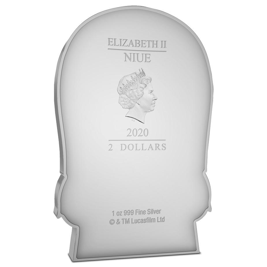(W160.200.2020.30-00993) 2 Dollars Niue 2020 1 oz Proof silver - Chibi Chewbacca Obverse (zoom)