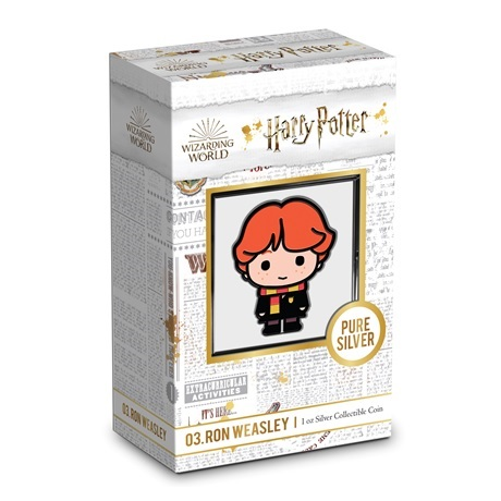 (W160.200.2020.30-00994) 2 Dollars Niue 2020 1 once Ag BE - Chibi Ron Weasley (packaging)