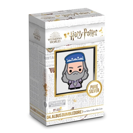 (W160.200.2020.30-01004) 2 Dollars Niue 2020 1 once Ag BE - Chibi Albus Dumbledore (packaging)