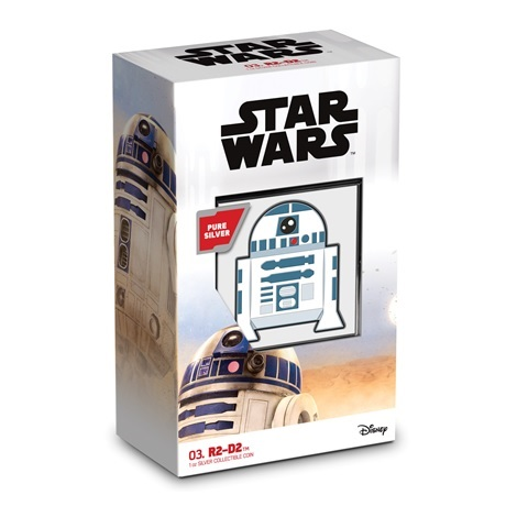 (W160.200.2020.30-01013) 2 Dollars Niue 2020 1 once Ag BE - Chibi R2-D2 (packaging)