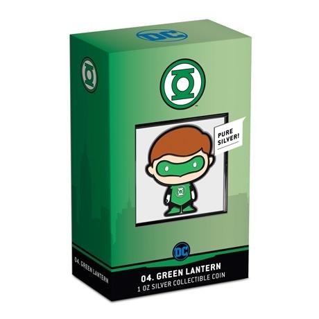 (W160.200.2020.30-01014) 2 Dollars Niue 2020 1 once Ag BE - Chibi Green Lantern (packaging)