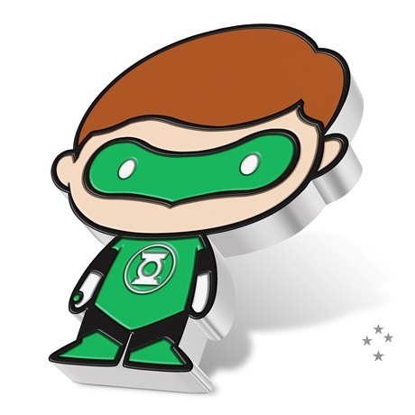 (W160.200.2020.30-01014) 2 Dollars Niue 2020 1 once argent BE - Chibi Green Lantern (tranche)