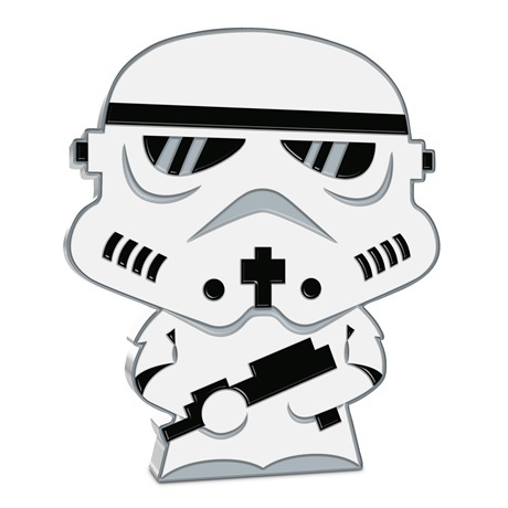 (W160.200.2020.30-01016) 2 Dollars Niue 2020 1 once argent BE - Chibi Stormtrooper Revers