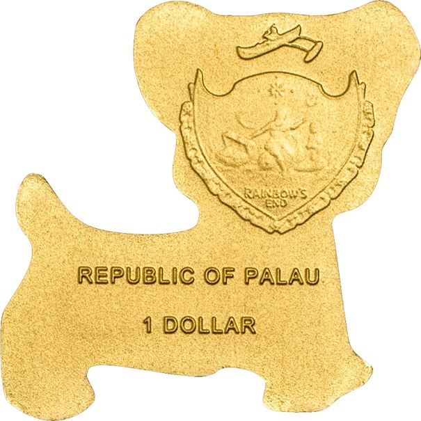 (W168.1.1.D.n.d._2013_.26501) 1 Dollar Golden dog 2013 - BU gold Obverse (zoom)