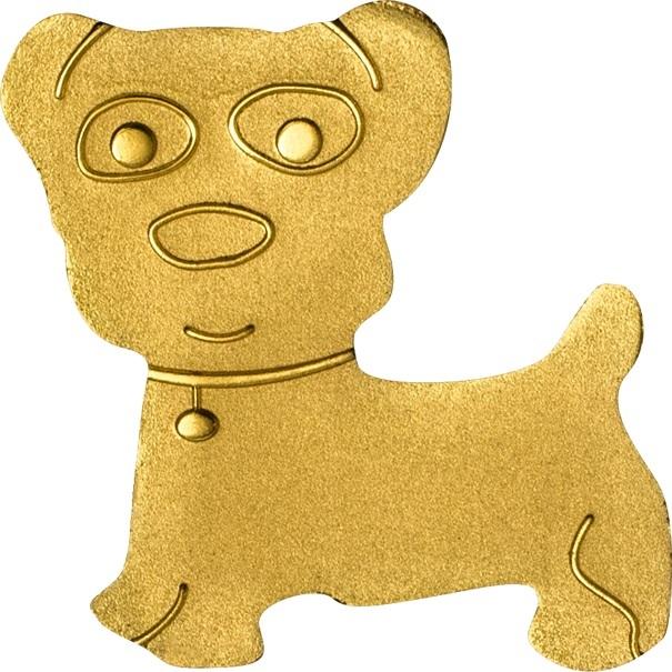 (W168.1.1.D.n.d._2013_.26501) 1 Dollar Golden dog 2013 - BU gold Reverse (zoom)