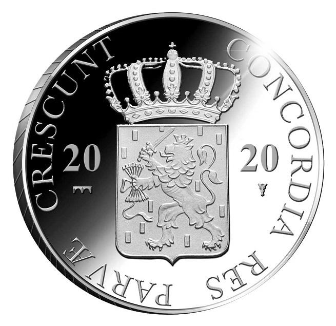 (W172.Ducat.2020.Ag.1) 1 Ducat Muiderslot Castle 2020 - Proof silver Obverse (zoom)