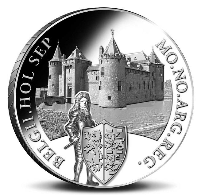 (W172.Ducat.2020.Ag.1) 1 Ducat Muiderslot Castle 2020 - Proof silver Reverse (zoom)