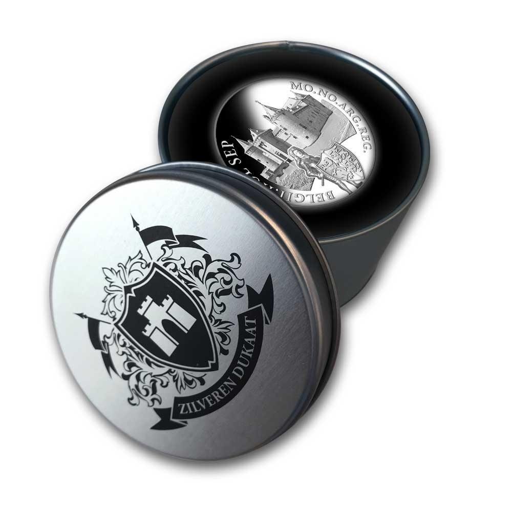 (W172.Ducat.2020.Ag.1) 1 Ducat Muiderslot Castle 2020 - Proof silver (case) (zoom)