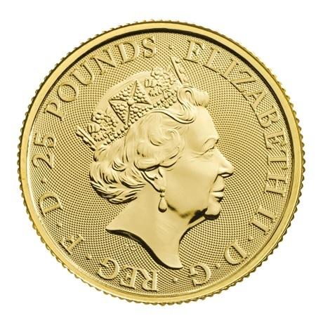 (W185.2500.2021.QBG21QZC) 25 Pounds Royaume-Uni 2021 0,25 once or - Lévrier blanc Richmond Avers