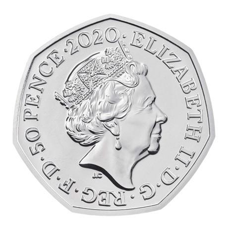 (W185.50.P.2020.UK20WPBU) 50 Pence Winnie l'ourson 2020 BU Avers