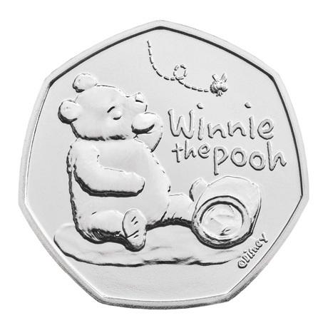 (W185.50.P.2020.UK20WPBU) 50 Pence Winnie l'ourson 2020 BU Revers