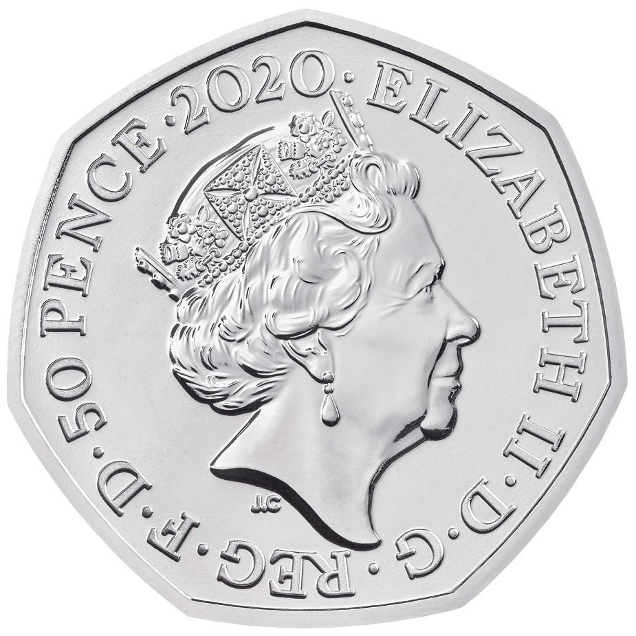 (W185.50.P.2020.UK20WPBU) 50 Pence Winnie the Pooh 2020 BU Obverse (zoom)
