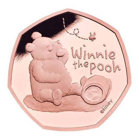 (W185.50.P.2020.UK20WPGP) 50 Pence Winnie l'ourson 2020 - Or BE Revers