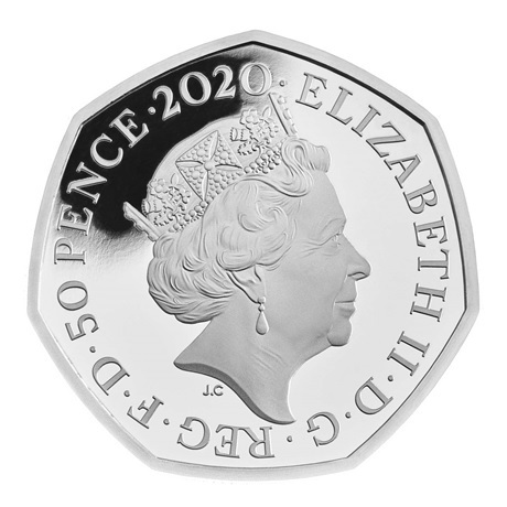 (W185.50.P.2020.UK20WPSP) 50 Pence Winnie l'ourson 2020 - Argent BE Avers