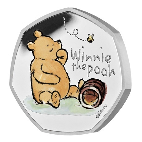 (W185.50.P.2020.UK20WPSP) 50 Pence Winnie l'ourson 2020 - Argent BE Revers