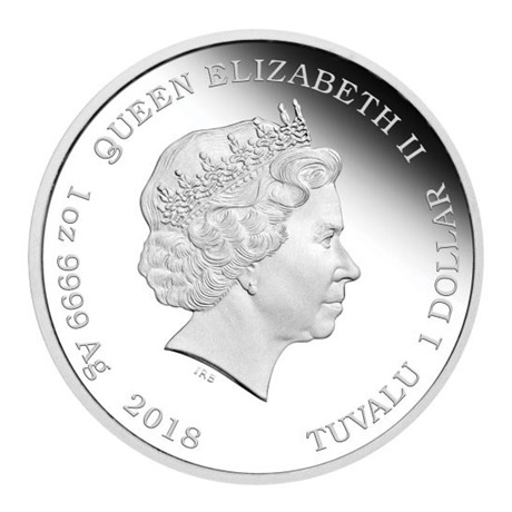 (W228.1.100.2018.1.oz.Ag.1) 1 Dollar Tuvalu 2018 1 once argent BE - Scooby-Doo Avers