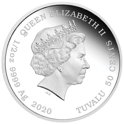 (W228.1.50.C.2020.20C26AAA) 50 Cents Tuvalu 2020 0.50 oz Proof silver - Always together Obverse (zoom)