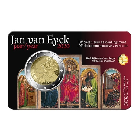 (EUR02.ComBU&BE.2020.0108814) 2 euro Belgique 2020 BU - Jan Van Eyck - Légende flamande Recto