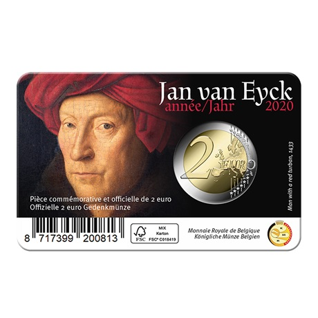 (EUR02.ComBU&BE.2020.0108814) 2 euro Belgique 2020 BU - Jan Van Eyck - Légende flamande Verso