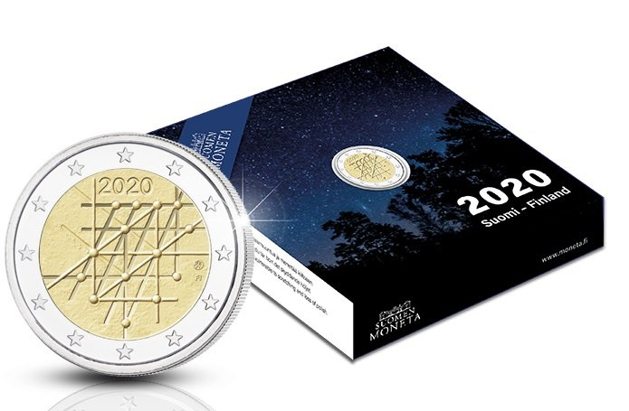 (EUR06.ComBU&BE.2020.200.BE.COM1) 2 euro Finland 2020 Proof - University of Turku (case) (zoom)