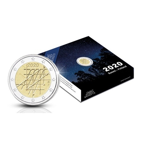 (EUR06.ComBU&BE.2020.200.BE.COM1) 2 euro Finlande 2020 BE - Université de Turku (écrin)