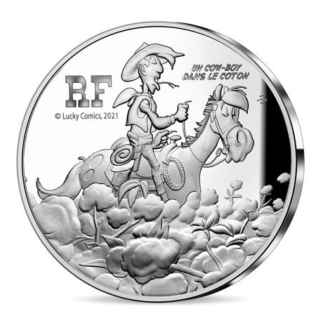(EUR07.ComBU&BE.2021.10041354950000) 10 euro France 2021 Ag BE - Lucky Luke Avers