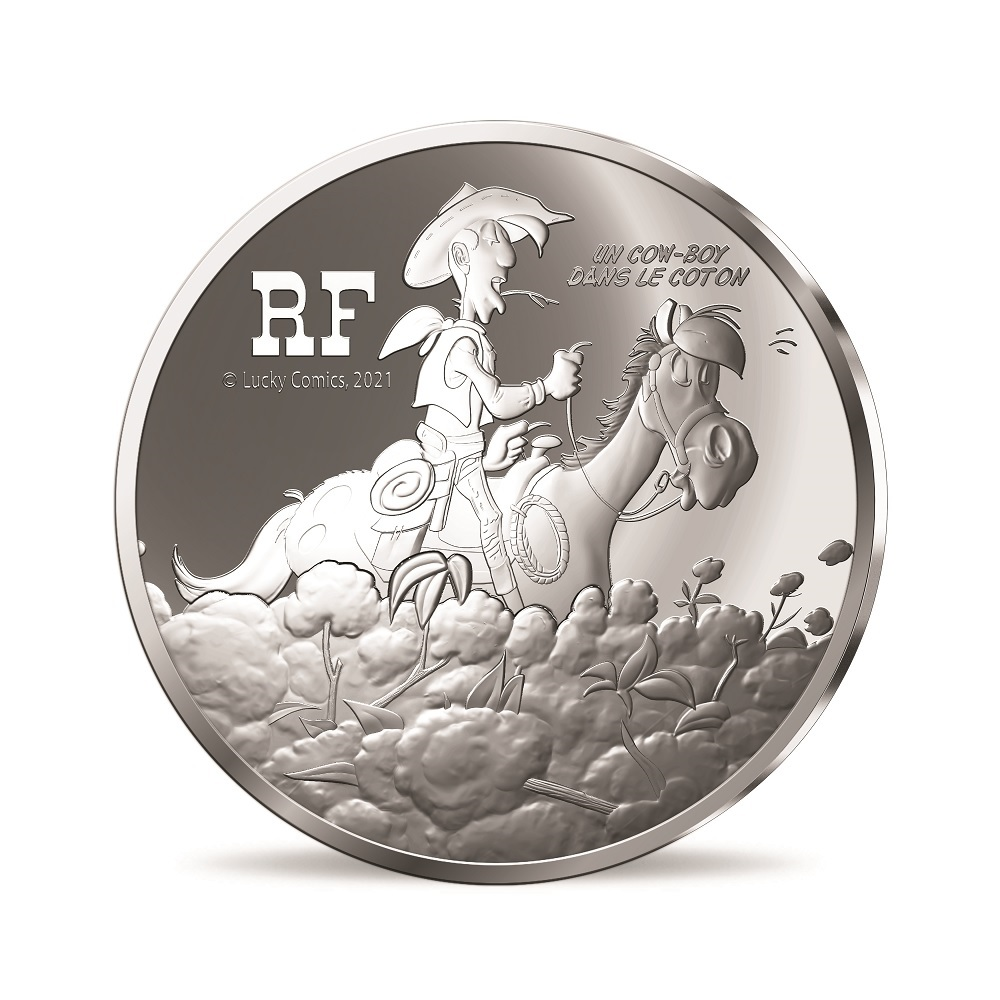 (EUR07.ComBU&BE.2021.10041354950000) 10 euro France 2021 Proof silver - Lucky Luke Obverse (zoom)