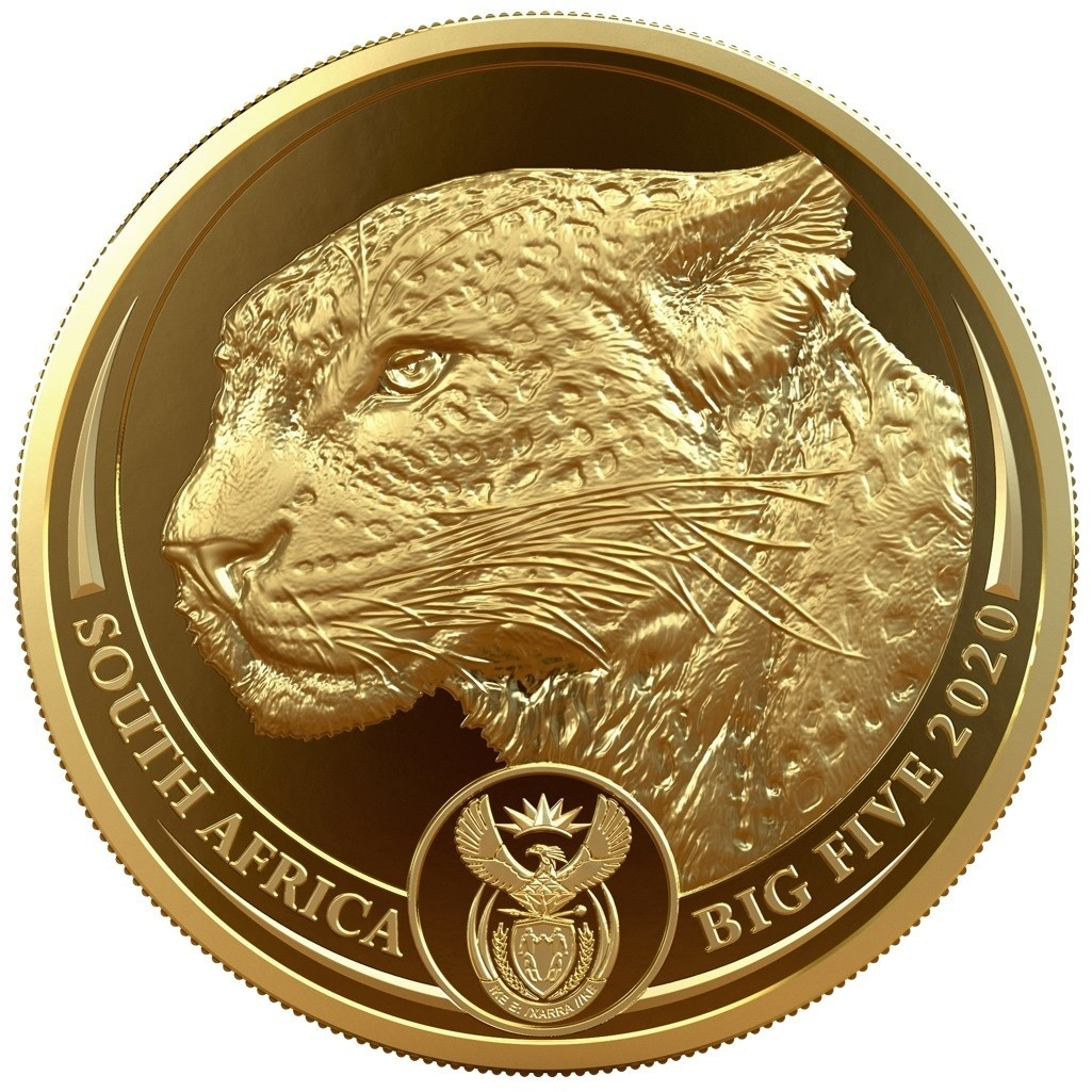 (W002.50.R.2020.1.oz.Au.2) 50 Rand South Africa 2020 1 oz Proof gold - Leopard Obverse (zoom)