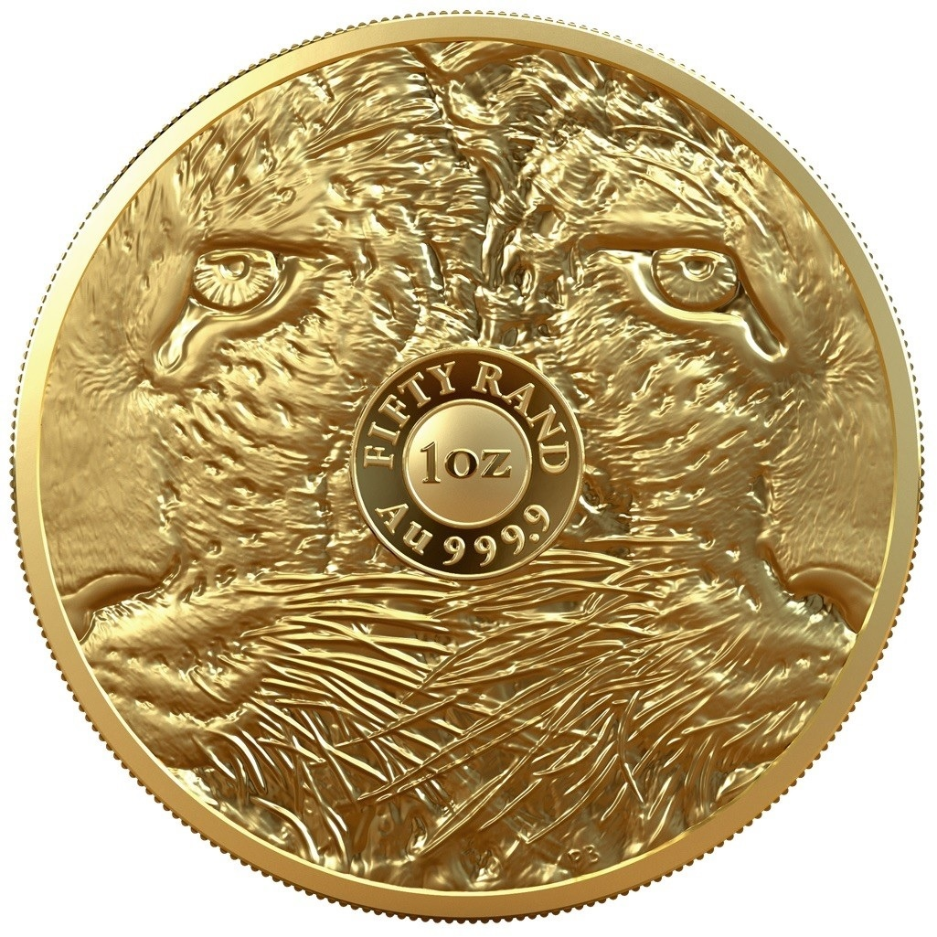 (W002.50.R.2020.1.oz.Au.2) 50 Rand South Africa 2020 1 oz Proof gold - Leopard Reverse (zoom)