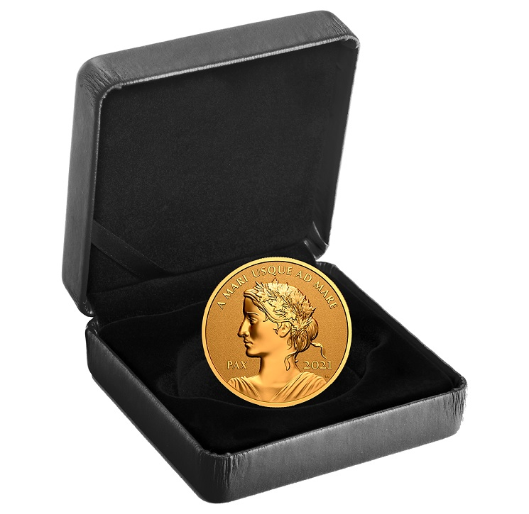 (W037.200.D.2021.179025) 200 Dollars Peace 2021 - Proof Au (case) (zoom)