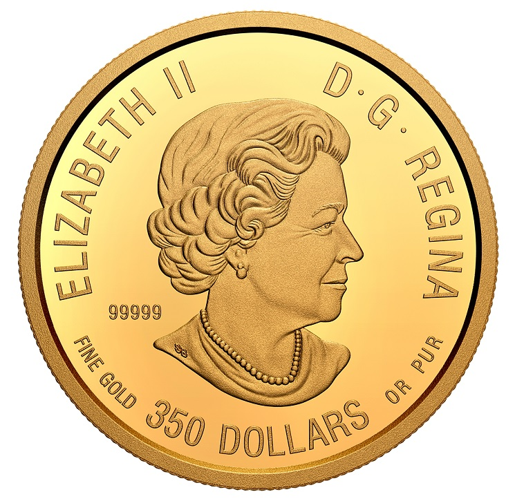 (W037.350.D.2020.178710) 350 Dollars Grizzly Bear 2020 - Proof gold Obverse (zoom)