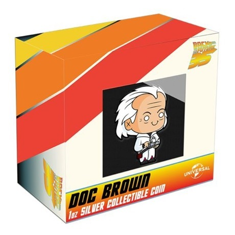 (W160.200.2020.21K52AAA) 2 Dollars Niue 2020 1 once Ag BE - Chibi Docteur Emmett Brown (packaging)