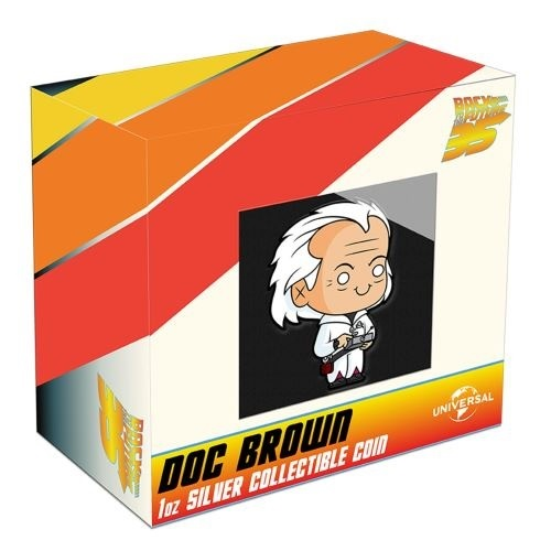 (W160.200.2020.21K52AAA) 2 Dollars Niue 2020 1 oz Proof Ag - Chibi Doc Brown (packaging) (zoom)