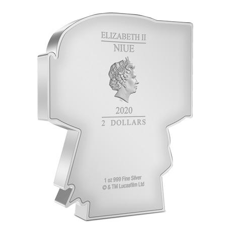(W160.200.2020.30-01018) 2 Dollars Niue 2020 1 once argent BE - Chibi Boba Fett Avers