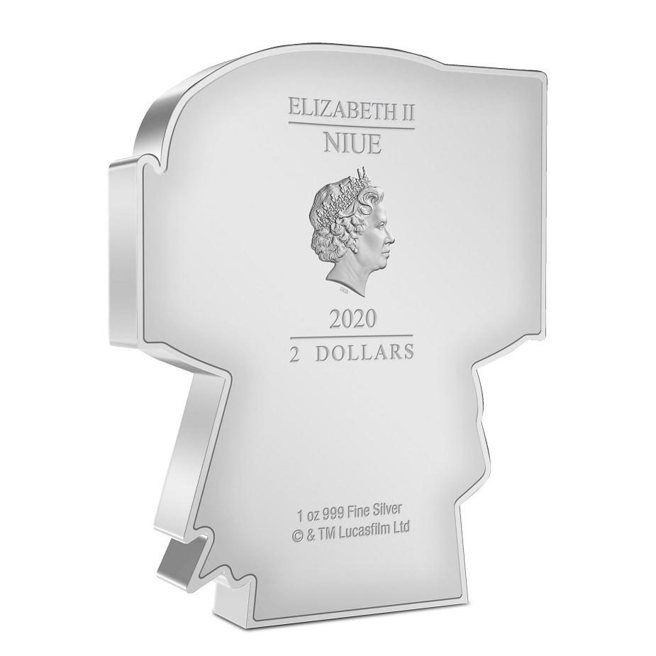 (W160.200.2020.30-01018) 2 Dollars Niue 2020 1 oz Proof silver - Chibi Boba Fett Obverse (zoom)