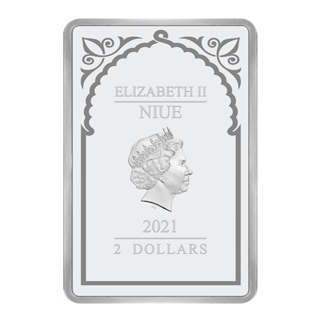 (W160.200.2021.30-00995) 2 Dollars Niue 2021 1 once argent BE - Archange Uriel Avers