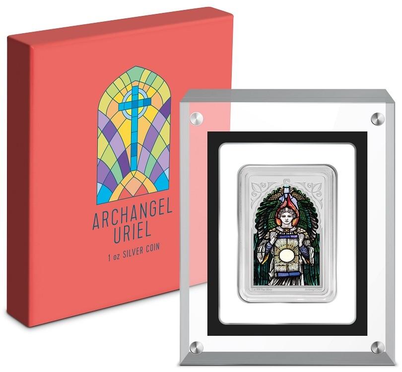 (W160.200.2021.30-00995) 2 Dollars Niue 2021 1 oz Proof Ag - Archangel Uriel (base and box) (zoom)