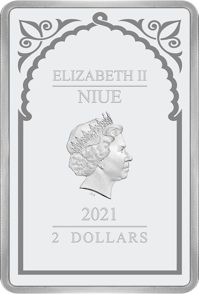 (W160.200.2021.30-00995) 2 Dollars Niue 2021 1 oz Proof silver - Archangel Uriel Obverse (zoom)